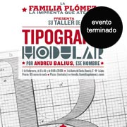 Taller con Andreu Balius (Tipografía Modular)